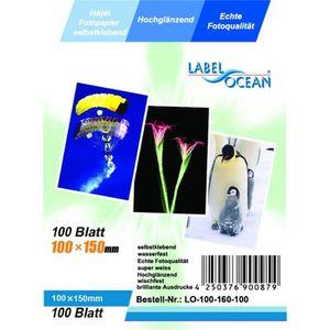 PAPIER PHOTO 100 Feuilles Papier Photo Adhésif 10x15 cm Premium
