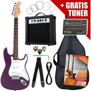 GUITARE Rocktile ST Pack guitare électrique pourpre en SET
