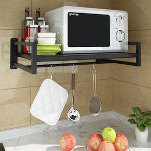 Commodes de cuisine /Étag/ères Four /à micro-ondes Support /Étag/ère /à /épices /Étag/ère /à four Cadre dustensile de cuisine Support en acier au carbone Sant/é