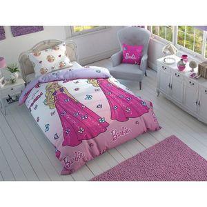 HOUSSE DE COUETTE ET TAIES TAC Parure de lit Barbie Summer Rose 1 personne, 1