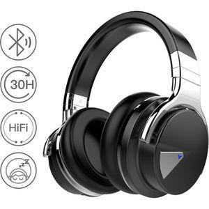 CASQUE - ÉCOUTEURS COWIN E7 Noir Casque Audio Bluetooth - Haute quali