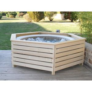 SPA COMPLET - KIT SPA Habillage bois pour spa gonflable