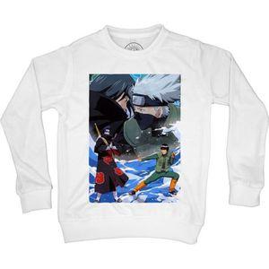 Sweat-Shirt enfant naruto uzumaki kakashi minato ninja manga