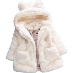 Gemini/_mall Manteau /à capuche en fausse fourrure pour b/éb/é fille et fille
