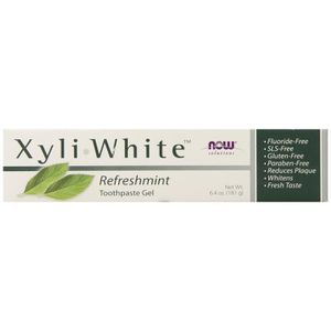 DENTIFRICE Now Foods, Solutions, xyli • Gel dentifrice blanc,