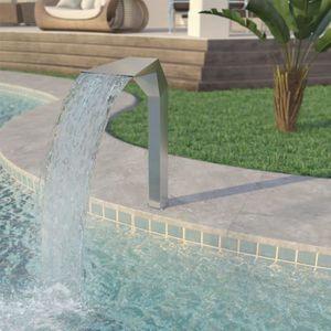 CASCADE - FONTAINE  Fontaine d'étang Acier inoxydable 50 x 30 x 90 cm