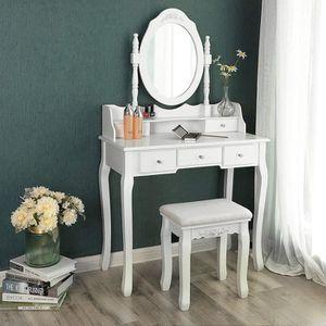 COIFFEUSE Songmics® Coiffeuse table de maquillage avec miroi