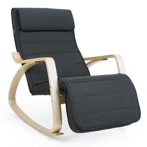 FAUTEUIL SONGMICS Fauteuil à bascule Rocking Chair avec Rep