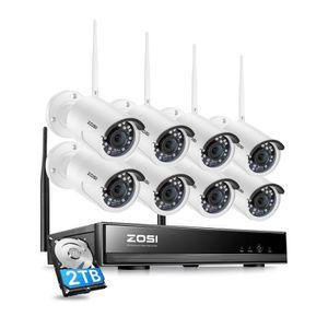 CAMÉRA DE SURVEILLANCE ZOSI 8CH HD 1080p 2T NVR H.265+ Enregistreur Vidéo