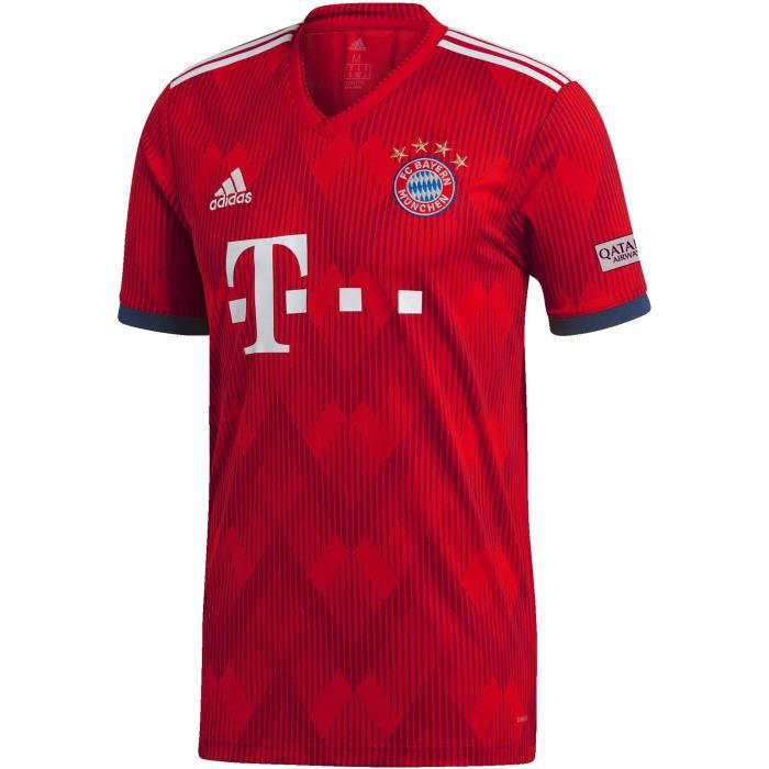 ADIDAS Maillot de football Bayern Domicile 18 - Homme - Rouge