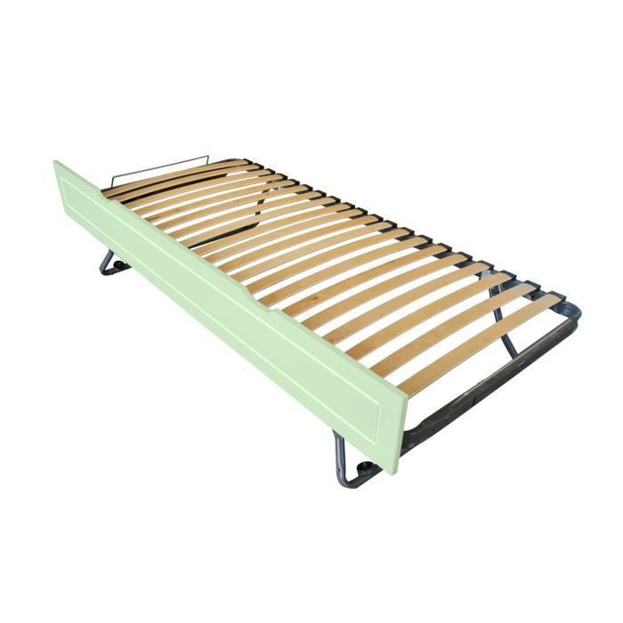 Tiroir lit Sommier relevable pin (Vert Pastel)