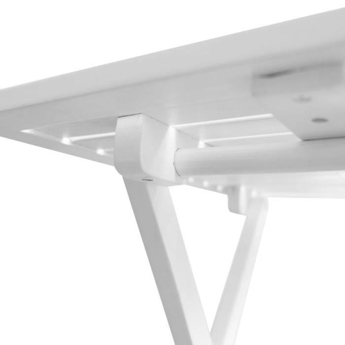 KAI Table basse d'extérieur Bois d'acacia Blanc
