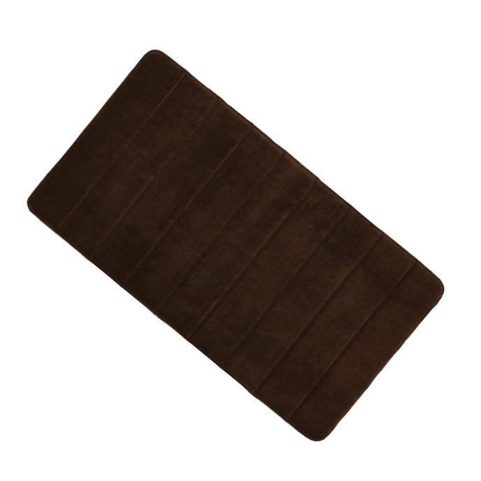 Luxueux tapis de bain en mousse de mémoire marron