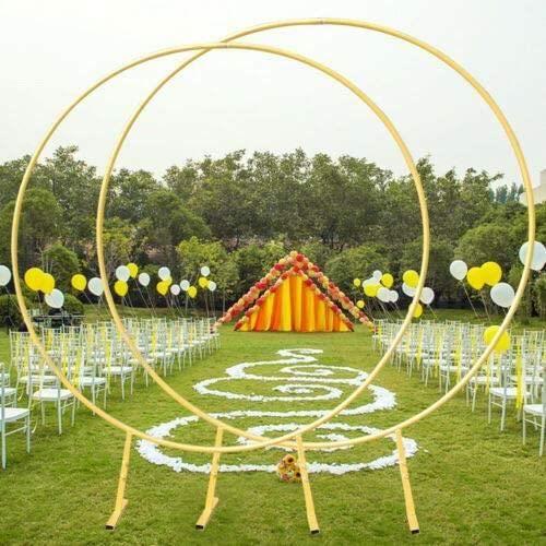 Arche de fleurs dcoratives pour mariage bricolage fond de crmonie de mariage support darc rond mtal anneau de fleurs ballon c[29546]