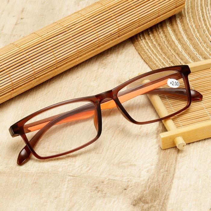 lunettes de lecture TR90 pour hommes et femmes, ultralégères, rétro, verres clairs, presbytes, + 1.5 2.0 3.0 4.0 [8CC3AD6]