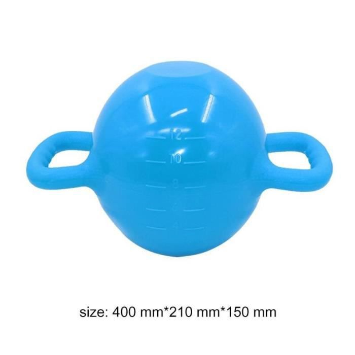 Yoga Fitness bouilloire cloche 4-12LB réglable eau Kettlebell haltère Double poignées Pilate exercic - Modèle: Orange -