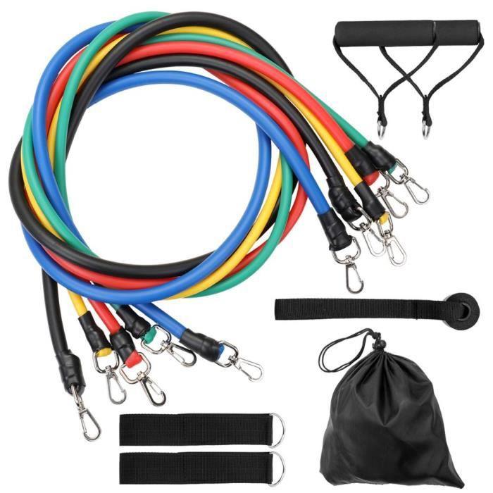 11 pièces Fitness tirer corde bandes de résistance Latex force équipement de gymnastique exe - Modèle: 11 PCS Set 1 - HSJSTLDB05310