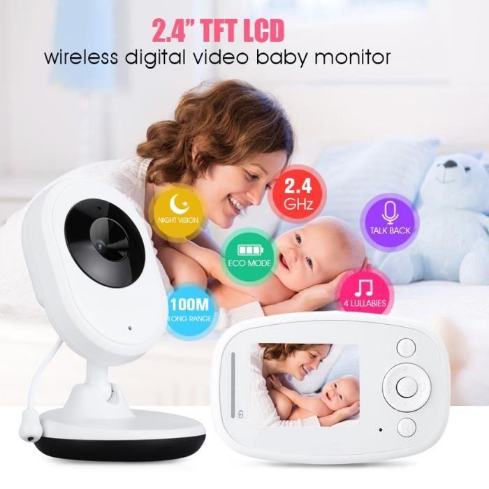 BABY PHONE - ECOUTE BEBE,Baba Eletronica Com 820A appareil photo moniteur bébé 2.4 pouces TFT LCD IR Vision nocturne, 4 berceuses,