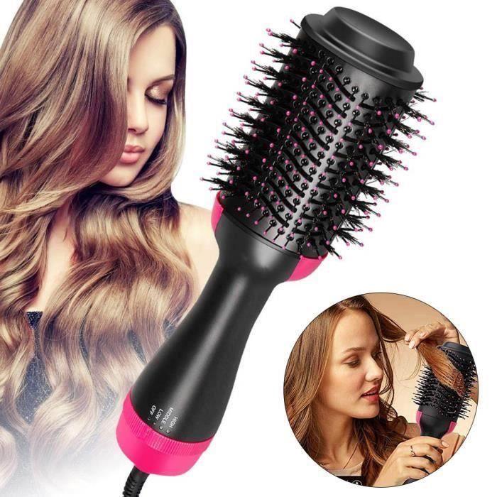 Brosse Soufflante Rotative Brosse Lissante Chauffante Electrique Multifonctionnels Sèche-Cheveux 4 en 1