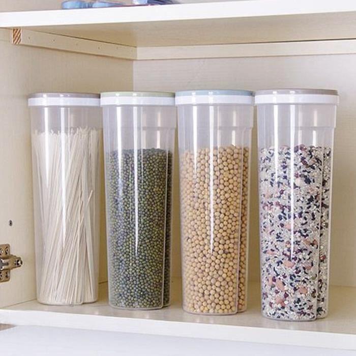 Support de rangement de nouilles haricots Accessoires de cuisine boîte de céréales conteneur alimentaire ustensiles trou de cont