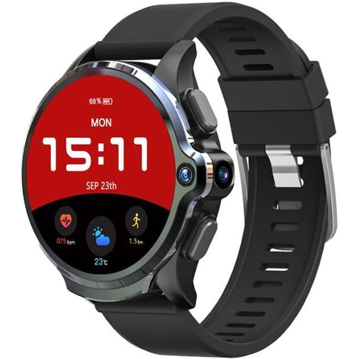 Nouveau KOSPET Prime 3 Go 32 Go Montre Intelligente Hommes 1260mAh 4G Smartwatch Android Caméra Fréquence Cardiaque Face ID 1.6 -GPS