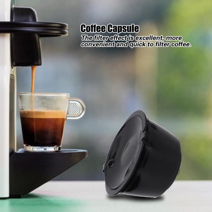 Accessoires réutilisables machine à café filtre tasse capsule café adaptés au noir -CHD