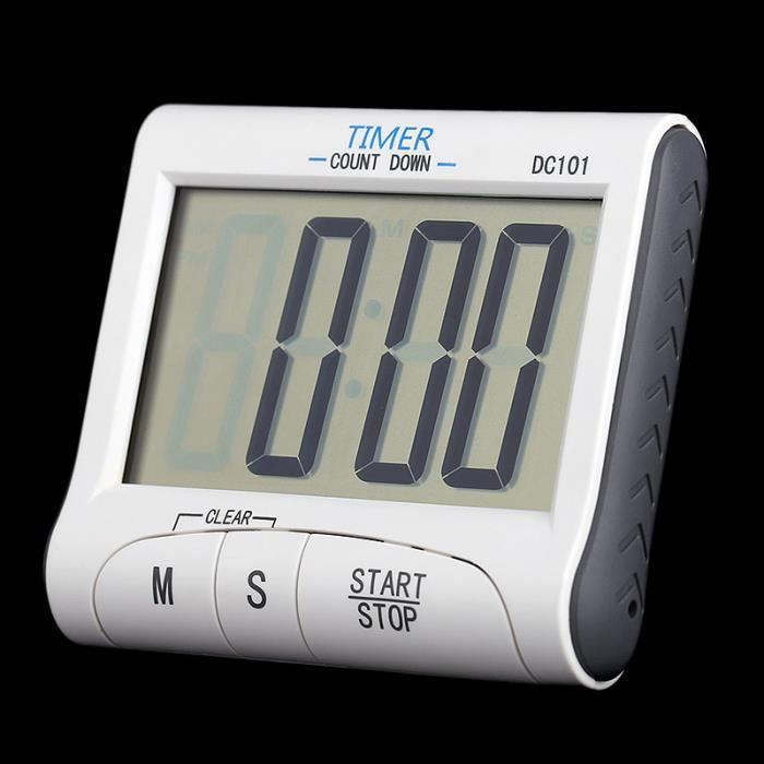 Minuteur Digital De Cuisine Ustensile De Cuisine Grand Ecran LCD avec Alarme