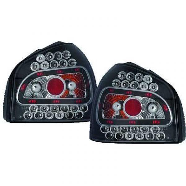 feux arrières design, noir, LED A3, 96-04 LED pour: Audi A3 96-03