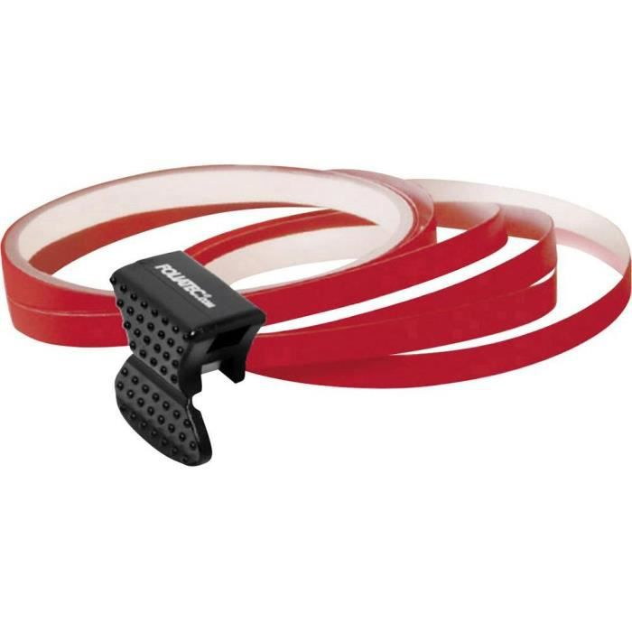 Rouleaux de bande autocollante pour bord de jante Foliatec rouge