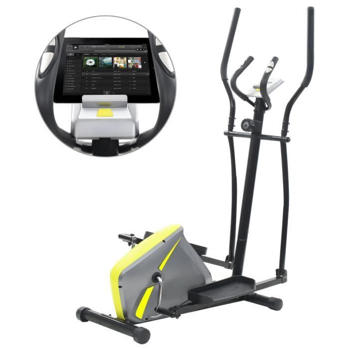 Homgeek Vélo elliptique magnétique avec mesure du pouls