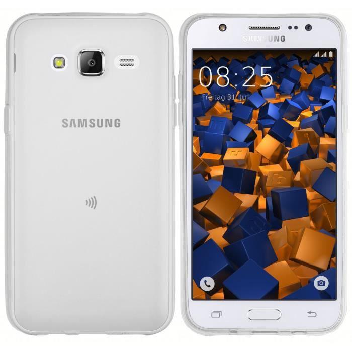 mumbi Coque de protection pour Samsung Galaxy J5 (2015) TPU gel silicone Blanc