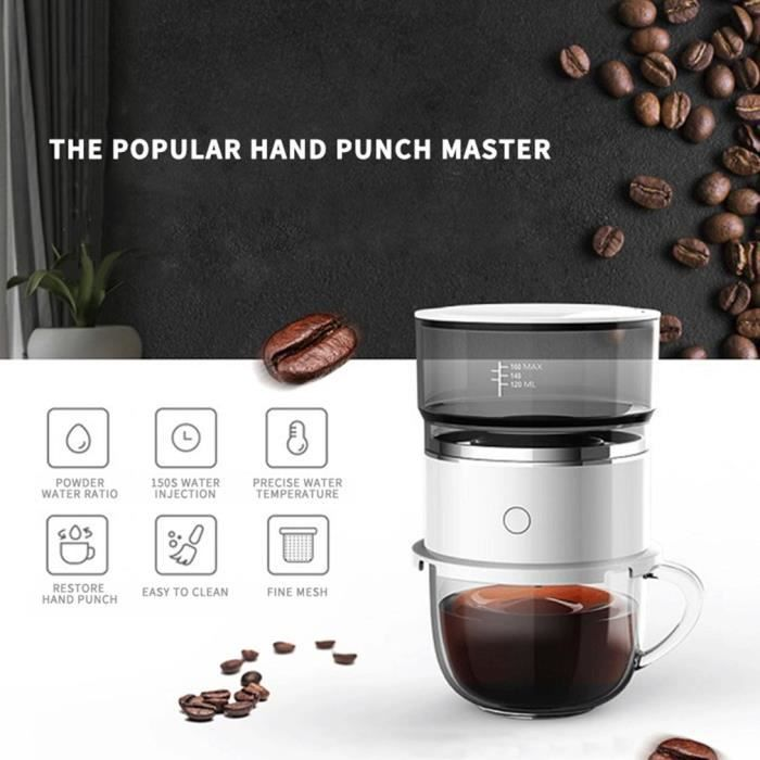 Machine à café Portable automatique sans batterie, et à goutte à goutte manuelle, - Type blanc-Ba