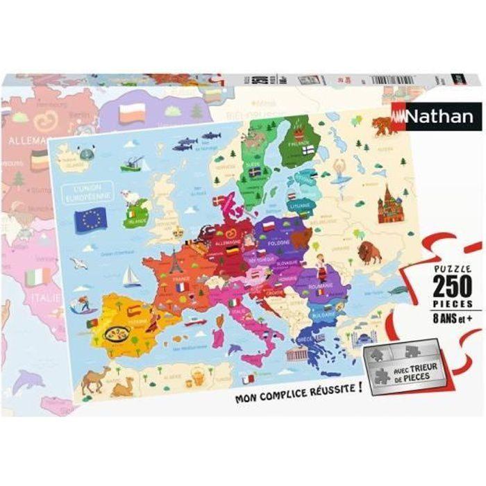 Puzzle 250 pièces - Carte d'Europe
