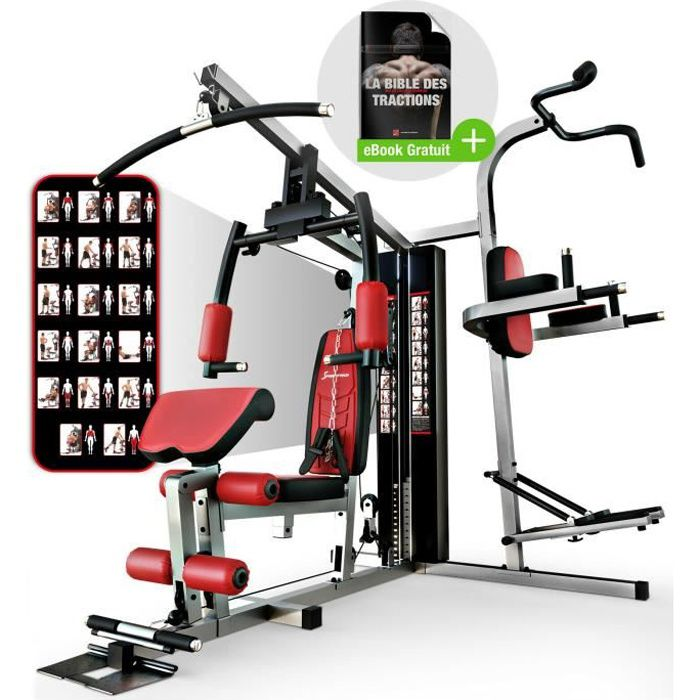 Sportstech La Station de Musculation HGX200 Premium pour des Variantes d'entraînement innombrables. Home-Gym Multifonction, Fitness