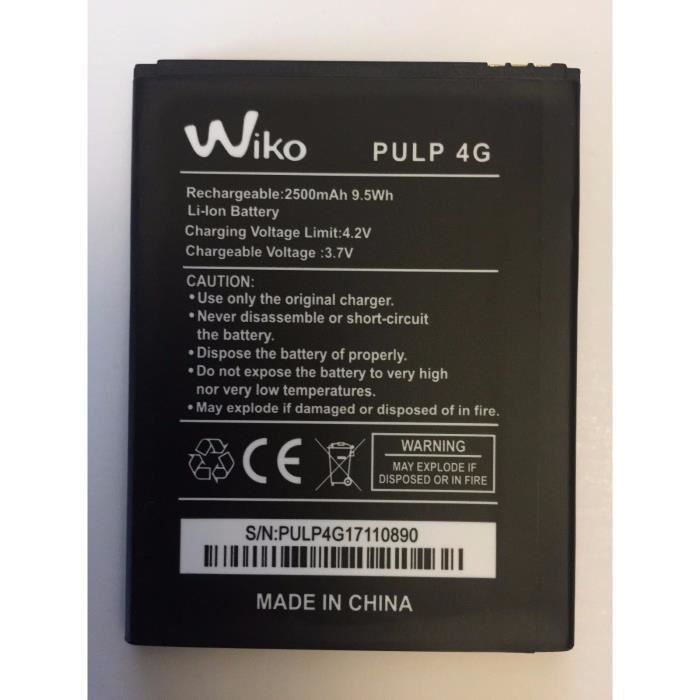 Batterie Wiko Pulp 4 G