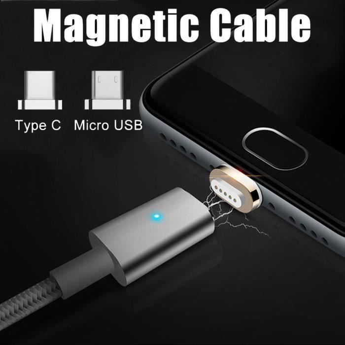 CHARGEUR TÉLÉPHONE Type magnétique-c micro USB chargeur de câble de c