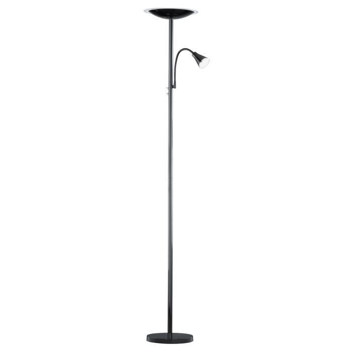 lampadaire led avec liseuse 180cm noir achat vente. Black Bedroom Furniture Sets. Home Design Ideas