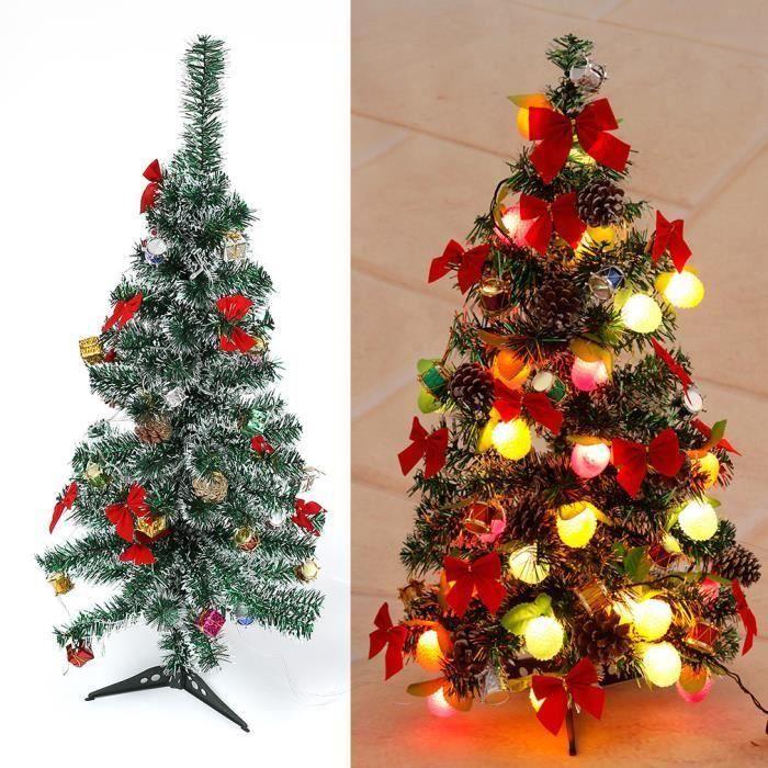 Sapin De Noel Artificiel DéCoré Arbre sapin Noël artificiel Décoration avec LED guirlandes de