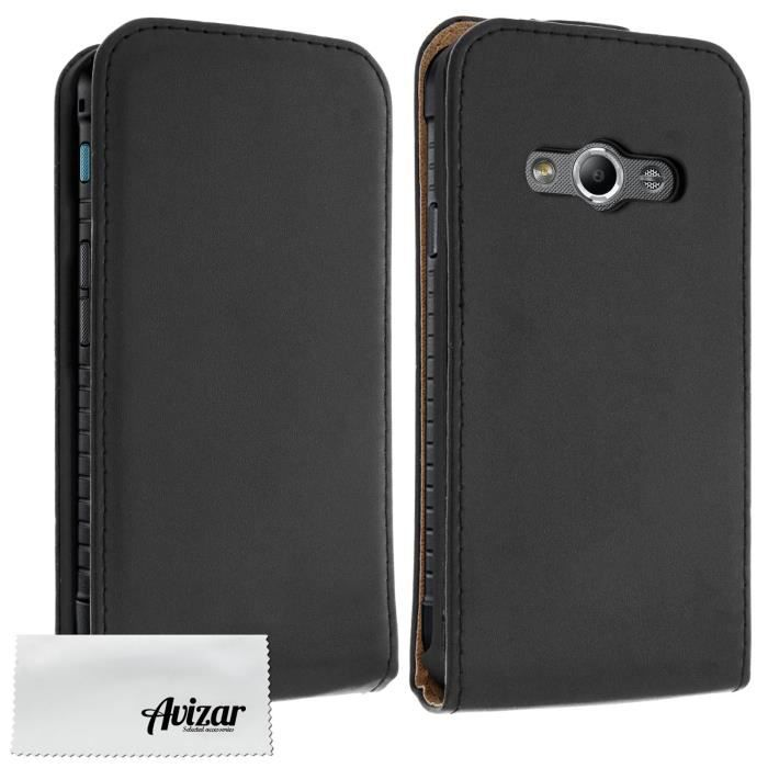 Housse etui rabat samsung galaxy xcover 3 noir achat for Housse xcover 4