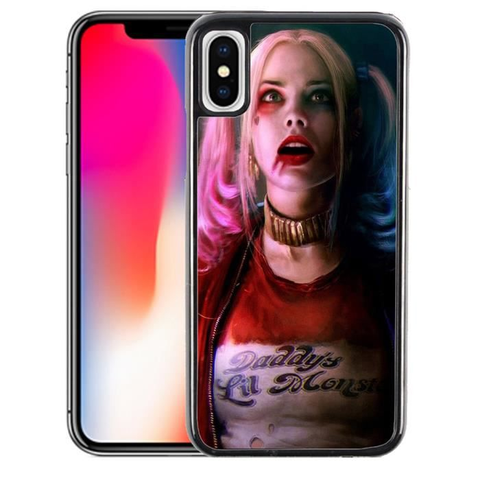 Coque iPhone XS Suicide Squad Harley Quinn Margot