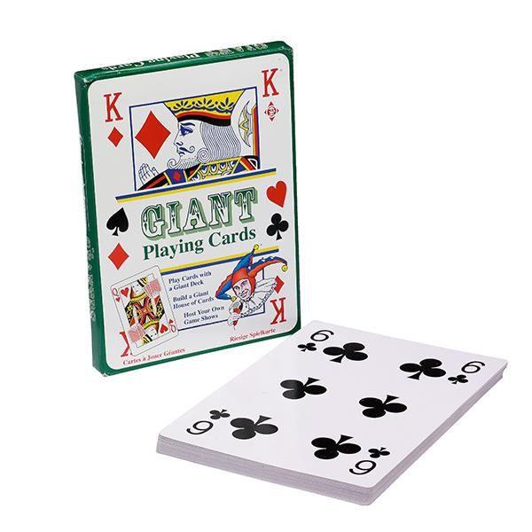 Poker Cartes Jumbo géant Jeu de Cartes Grande Plastique Cartes étanche 54 cartes