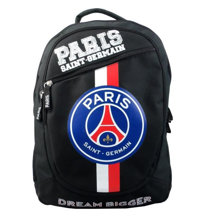 sac dos psg collection officielle paris saint germain noir noir achat vente sac dos. Black Bedroom Furniture Sets. Home Design Ideas