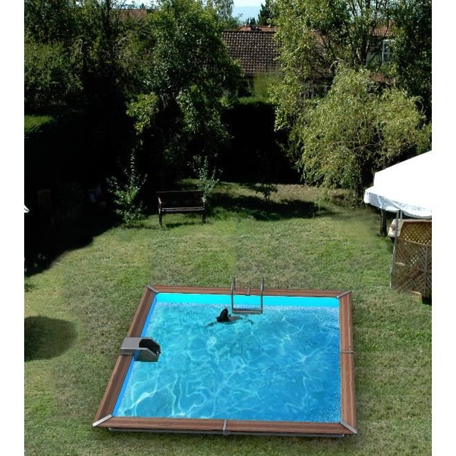 Piscine bois 3x4 for Piscine carree enterree
