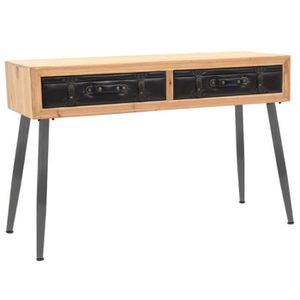 CONSOLE EXTENSIBLE Table Console en Bois Massif de Sapin Design à la