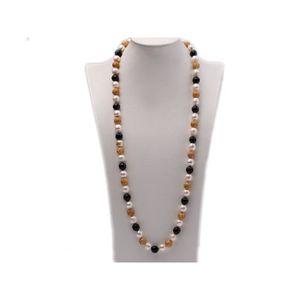 """8-9 Mm Vert Baroque Naturelle d/'Eau Douce Pearl les colliers collier pour femmes 17/"""""""