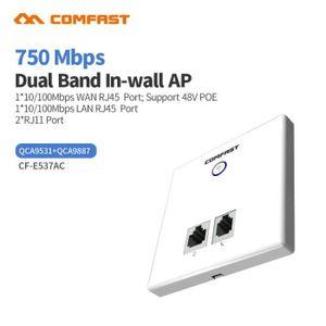 MODEM - ROUTEUR Comfast Cf-E537Ac Point d'accès 750Mbps Poe Wall A