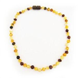COLLIER AMBRE Collier ambre bébé multicolore + Fermoir Sécurité