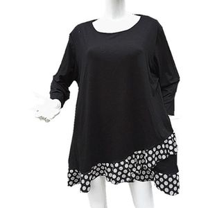 Tunique taille 46 48 50 52 femme vêtement mariage chic grande taille ample H604