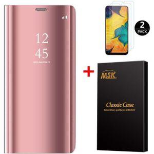 HOUSSE - ÉTUI Coque Samsung A40 + [2 Pack] Verre trempé, Miroir