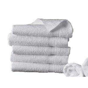 Lot de 2X Serviette de Toilette invité main 30 x 50 cm 100/% Coton 600gr//m2 Gris